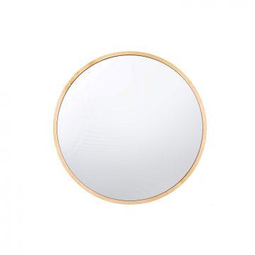 lustro No. 0 okrągłe lustro w drewnianej ramie